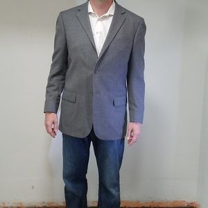 Gray Wool Geoffrey Beene Sports Coat - Like New